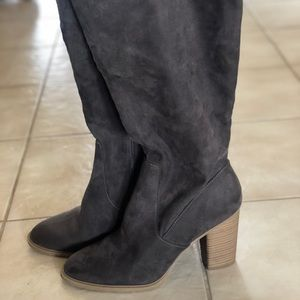 🌟SALE DV Taupe Afton Tall Stacked Heel Boots